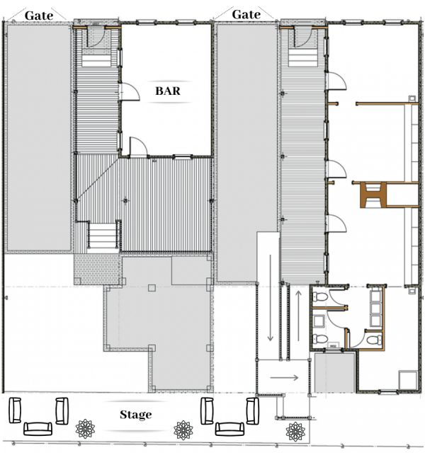 site plan fore events at Jackson street cottages